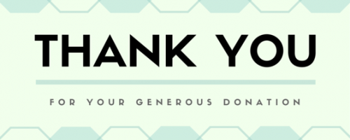 thanks you for donation